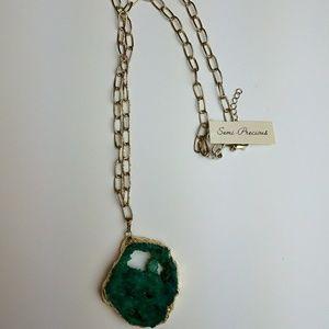Druzy Pendant Necklace fashion jewelry